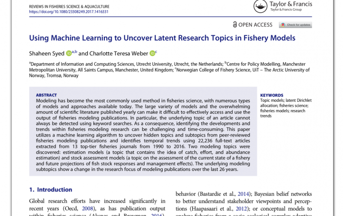 Using Machine Learning to Uncover Latent Research Topics in Fishery Models